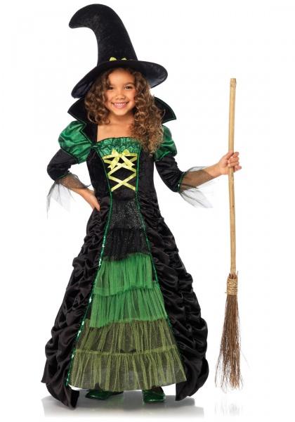5328ef8d3 Dětský kostým Zelená čarodějnice - Halloween Kostýmy a Masky